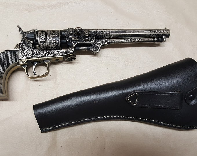 Steampunk 1851 Colt Navy Revolver w/Holster