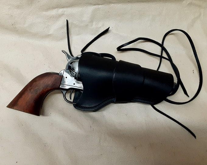 "1873 Colt ""Peacemaker"" Fast Draw Aged Gray Revolver Non Firing Replica w/Holster"