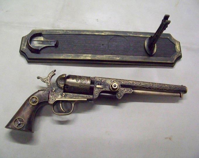 Steampunk 1851 Colt Navy Revolver Non Firing Replica #1