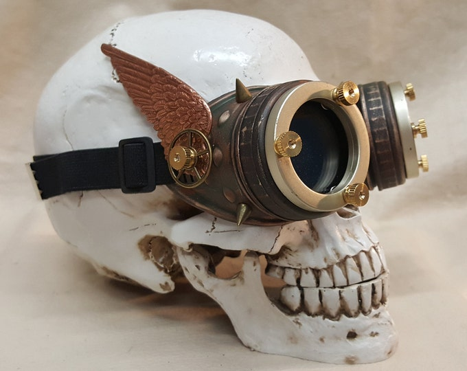 Steampunk Style Copper Valkyrie Goggles