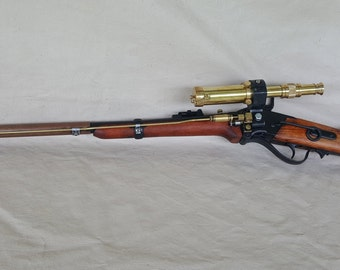 Steampunk Lever Action 1859 Sharps Carbine Sniper Rifle W/Scope