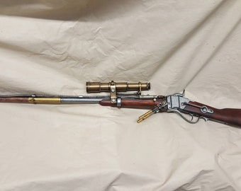 Steampunk Lever Action 1859 Sharps Carbine Rifle W/Scope