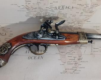 Steampunk Style 1806 Aged Napoleonic Pirates Non Firing Flintlock