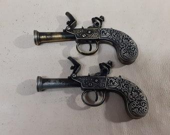 Steampunk Style 18th Century Aged Non Firing English Pocket Flintlock