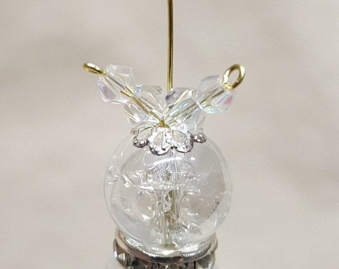 Beaded Crystal Kitty Cat Ornament