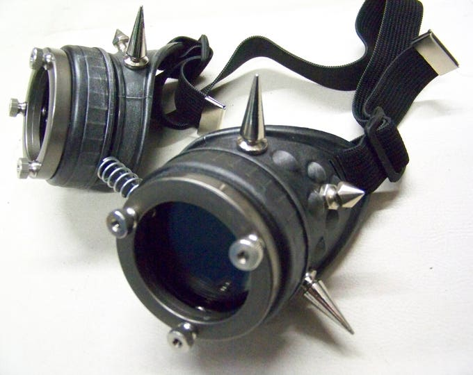 Spiked Steampunk Engineer Goggles