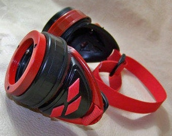 Slightly Distressed Steampunk Goggles Inspired By Harley Quinn