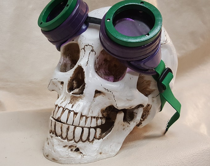 Slightly Off Kilter Distressed Steampunk Goggles Inspired By The Joker