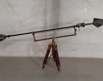 Steampunk Airship Boarding  Arrow with Tripodal Display Stand