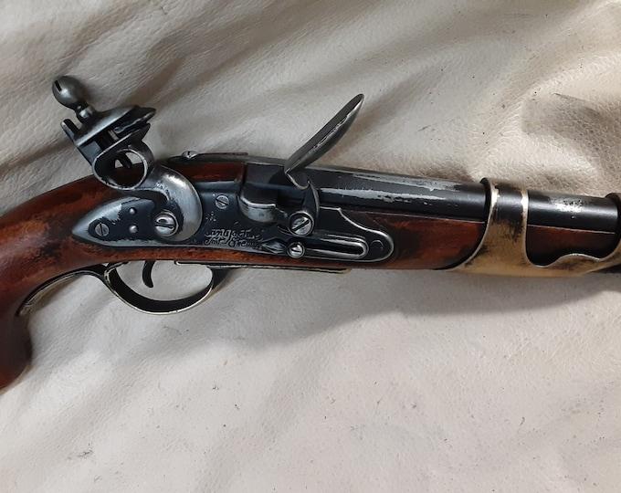 Steampunk Style 1801 Aged Napoleonic Pirates Non Firing Flintlock