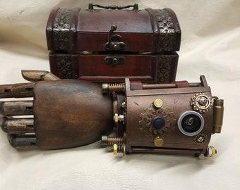 Steampunk Vortex Manipulator With Wooden Steampunk Box # 2