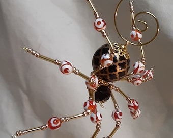 Steampunk/Christmas Brown Spider