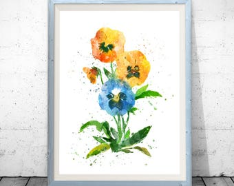 Flower Art, Wall Art, Wall Decor, Flower Art Print, Botanical Art, Flower Poster, Floral Wall Art, Flower Painting, Flower Illustration