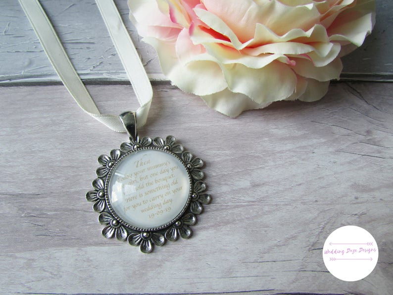 Flower Girl Gift Wedding Bouquet Charm Flower Girl Pendant image 0