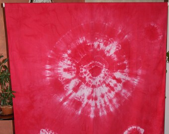 Wall hanging, sarong, tablecloth, bedspread, fabric, dye pigments, textile art