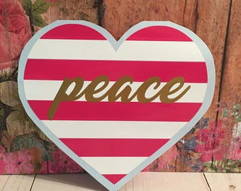 Peaceful Hearts - Car Decal