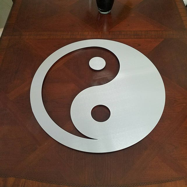 Yin Yang Wall Hanging Metal Wall Art Abstract Yin Yang | Etsy