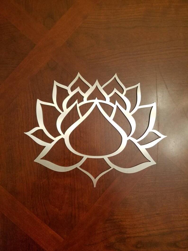 Lotus Flower Metal Wall Art Lotus Lotus Metal Art Yoga Etsy