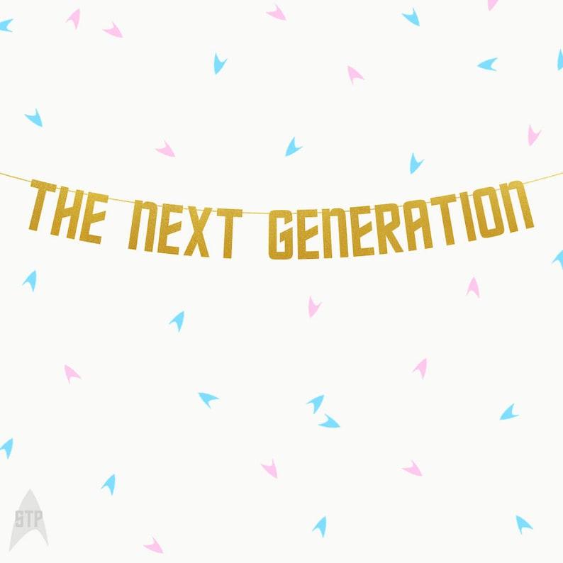 Star Trek Baby Shower The Next Generation Banner Custom Trek Banners Star Trek Gender Reveal Star Trek Banner The Next Generation
