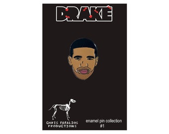 23118c1c4605ab Drake head enamel pin - LIMITED EDITION 1