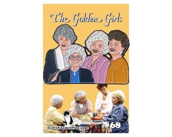 Golden Girls enamel pin - Golden Girls gift - Golden Girls fan - gift for her - gifts for mom - lapel pin - Betty White - best friend gift