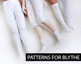 Patterns for Blythe. Socks, stockings, tights, capri pants. JPG, PDF.