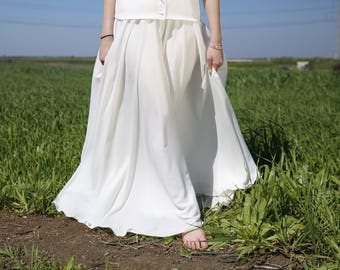 Hippie Wedding Skirt Modest Wedding Skirt Retro Wedding Skirt 2017 Wedding Skirt