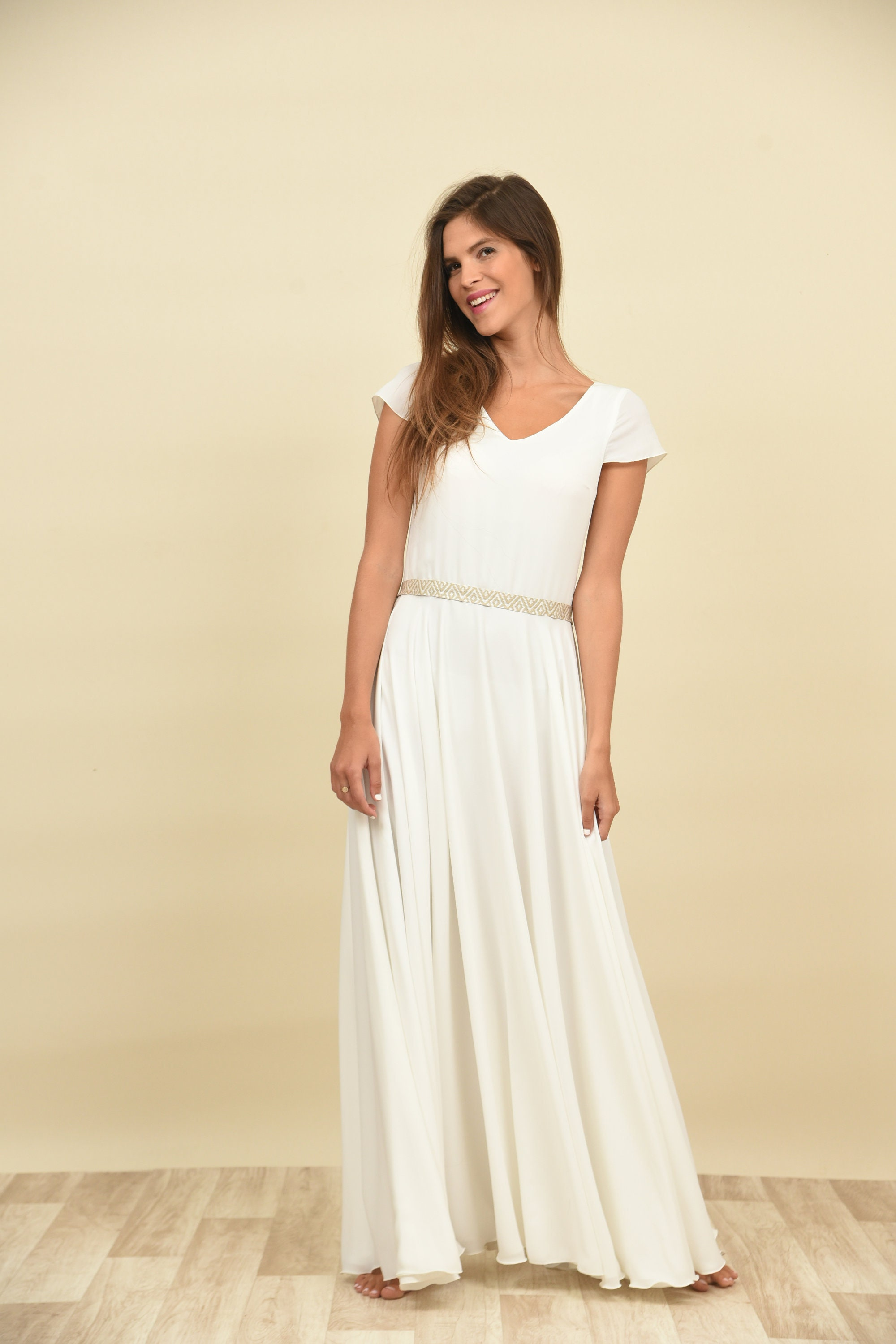 Simple Wedding Dress Maxi Lace Gown Dress For Wedding Etsy
