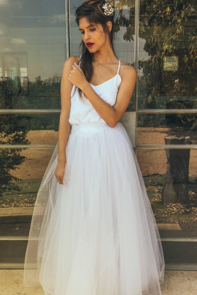 Tulle Wedding Skirt Nude Tulle Skirt Bridal Separates Skirt Etsy