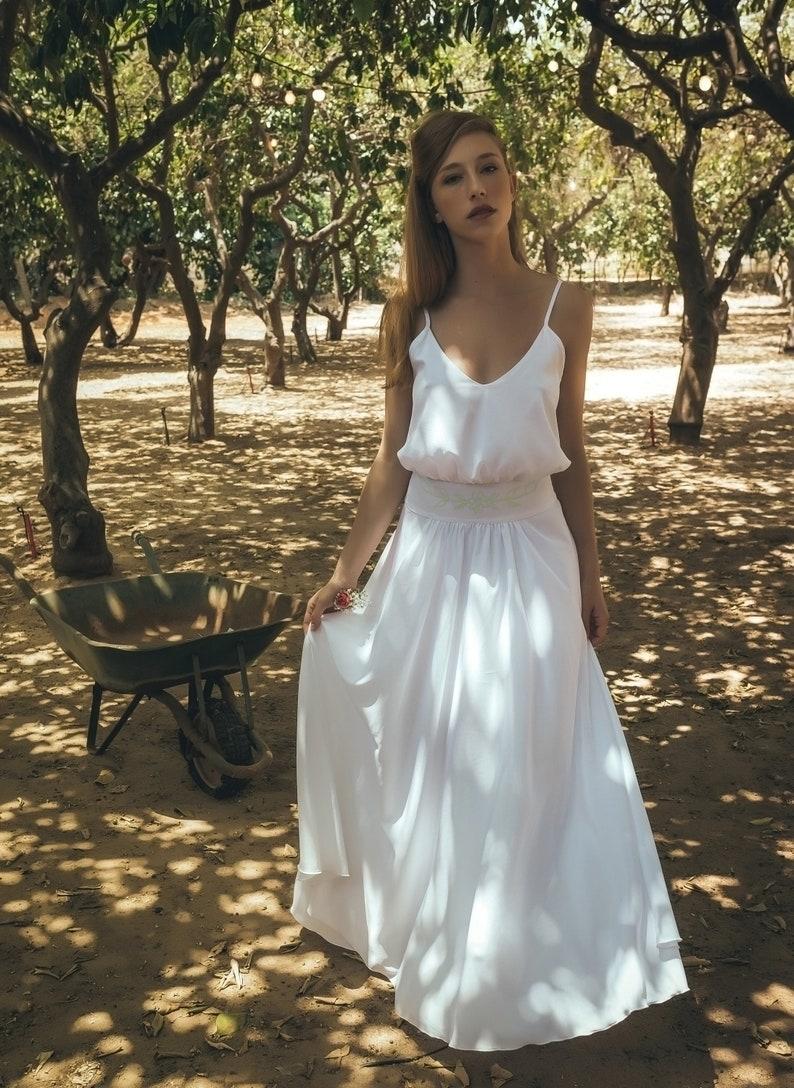 656535765bd78 Wedding dress slips boho slips wedding dress simple white | Etsy