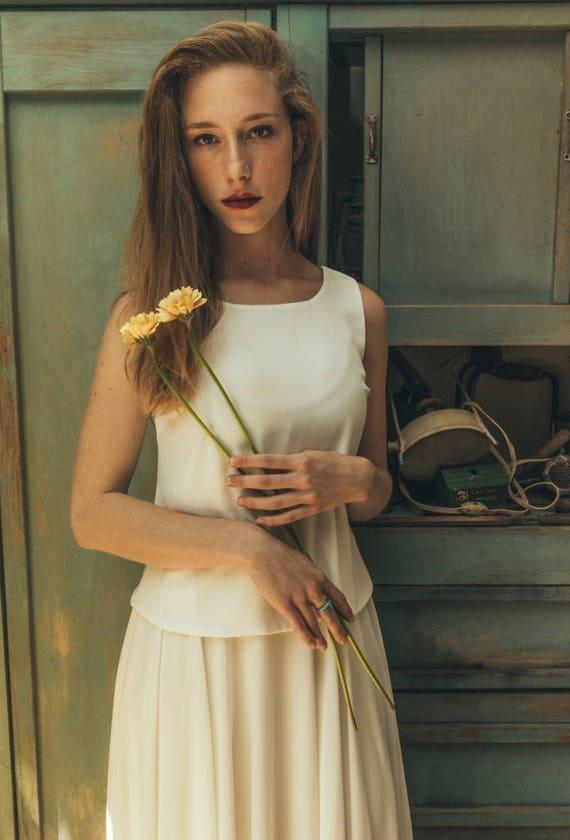 Designer Trouwjurk.Designer Trouwjurk Jurk Van De Bruid Boho Wedding Gown Pasvorm En Flare Bruiloft Jurk Halter Trouwjurk Jasmin Calla Wit