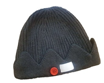 0e53c2b683d Riverdale Beanie Hat - Jughead Jones - Archie - Whoopee Cap - Crown Hat  with Red Button and White Tag - Clothing Merchandise Gift