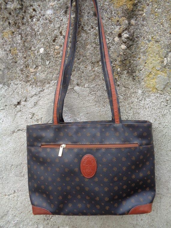 Vintage L'artigiano tassen, lederen schoudertassen, leren Messenger bag, Vintage Tote leerzak, schoudertas