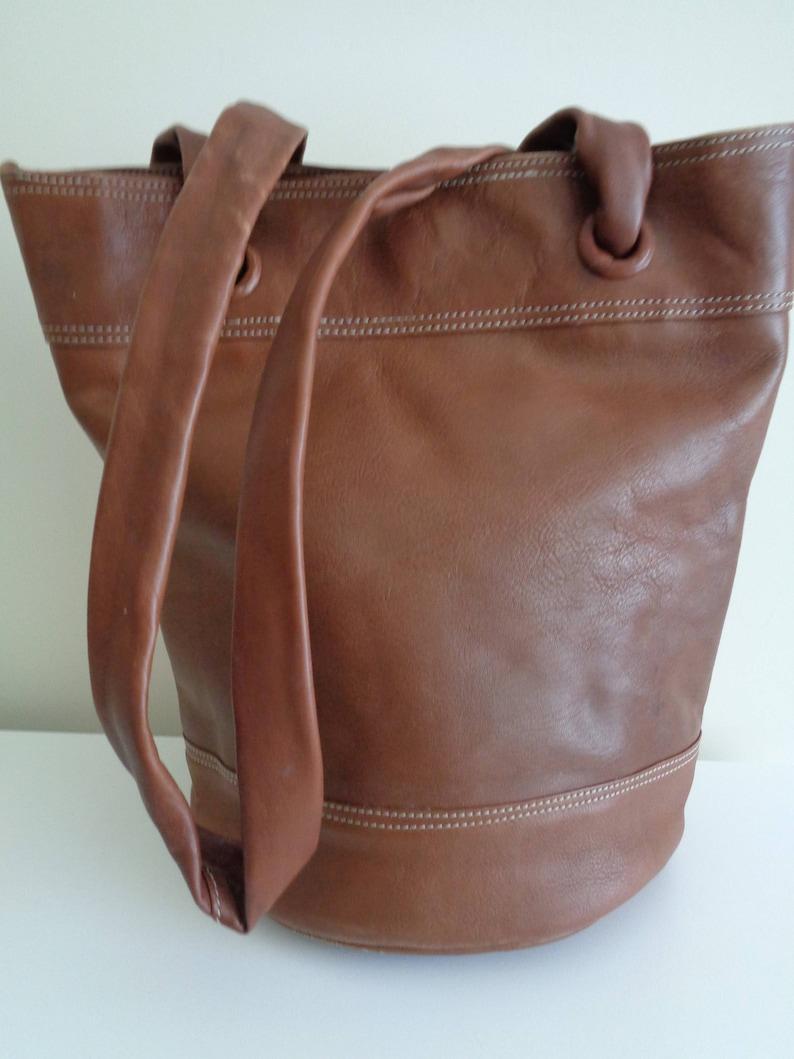 e5b9aa6e2c8 Vintage bruin Bag schoudertas Tote tas grote zak grote | Etsy