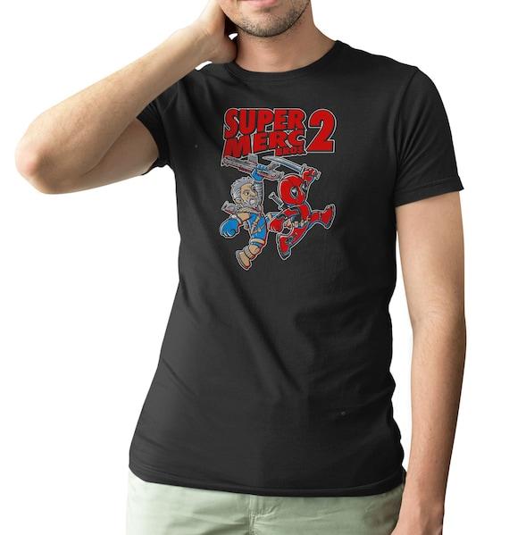 Deadpool T Shirt Super Mercs 2 Men S Funny Comedy T Shirt Etsy