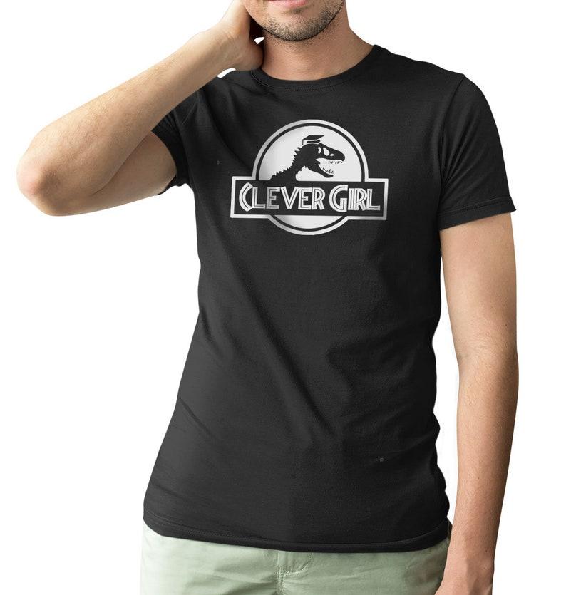 Clever Fille Jurassic Park Velociraptor Comedie T Shirt Homme Etsy