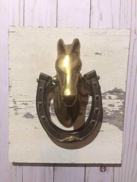 Superieur Vintage Door Knocker Vintage Brass Horse Head Door | Etsy