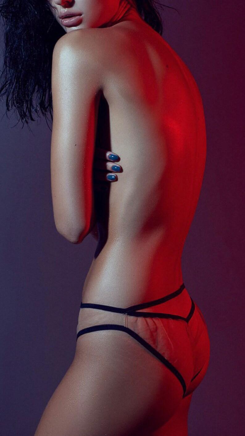 ac927a8a717 Transparent panties slip   sheer mesh undies   see through