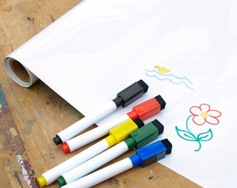 Roll of Whiteboard Film and Dry-Wipe Pens