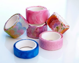 Floral Washi Tape Stickers - Single Rolls