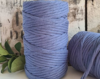 8mm Cornflower Blue Macrame Cord - Single Twist
