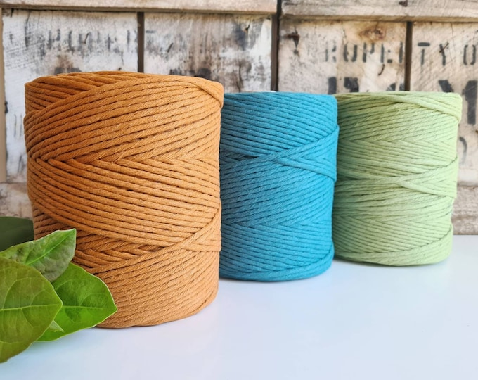 Featured listing image: Coloured Macrame Cord || Single Twist || 4mm || 1kg
