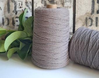 Ash Grey Coloured Crochet and Warp Cotton Cord || 500g || 1.5mm