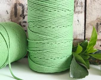 Avocado Macrame Rope || 4mm  || 4 Ply rope