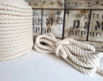 Super Chunky Macrame Cotton Rope || 12mm, 16mm, 20mm, 24mm || 3 Ply