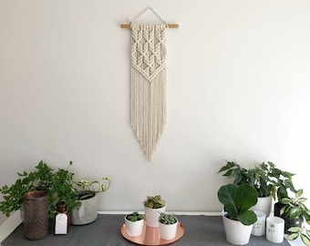 Macrame Wall Hanging | Twiggy | Modern, geometric, minimalistic, | Made to order