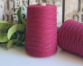 Garnet Coloured Crochet and Warp Cotton Cord || 500g || 1.5mm
