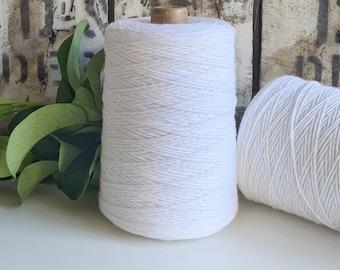 White Coloured Crochet and Warp Cotton Cord || 500g || 1.5mm
