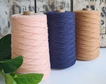 Coloured Crochet and Warp Cotton Cord || 500g || 1.5mm