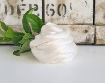 Mulberry Silk Tops || 25g or 50g || Natural White || DHG Italy